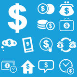Dollar icon set Stock Images