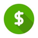 Dollar icon. Vector Glyphs Shadow Icon Stock Illustration