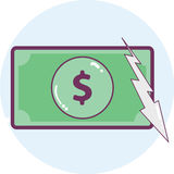 Dollar icon Stock Photo