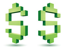 Dollar icons Royalty Free Stock Image