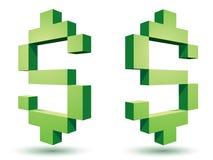 Dollar icons Royalty Free Stock Image