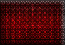 Dollar icons on a red  background. High tech Stock Photos