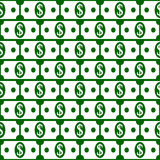Dollar icons seamless pattern. Royalty Free Stock Photography