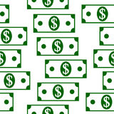 Dollar icons seamless pattern on white. Money dollar icons seamless pattern on white background Royalty Free Stock Images