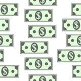 Dollar icons seamless pattern on white. Money dollar icons seamless pattern on white background Royalty Free Stock Photo