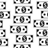 Dollar icons seamless pattern on white. Money dollar icons seamless pattern on white background Stock Photos