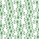 Dollar icons seamless pattern on white. Royalty Free Stock Photography