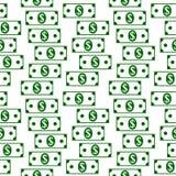 Dollar icons seamless pattern on white. Money dollar icons seamless pattern on white background Royalty Free Stock Photography