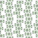 Dollar icons seamless pattern on white. Money dollar icons seamless pattern on white background Royalty Free Stock Image