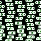 Dollar icons seamless pattern on white. Money dollar icons seamless pattern on black background Stock Image