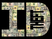 dollar ID-stöld Arkivfoto