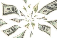 Dollar im Flug. lizenzfreie stockfotografie