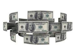 Dollar im Geldumlauf Stockfotos