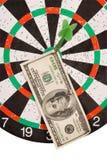 Dollar immer in der Mitte Stockbilder