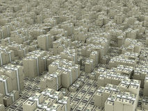 Dollar infinity. Many paks of dollars in stacks on ground Stock Images