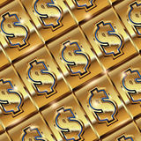 Dollar ingot Royalty Free Stock Photography