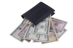 Dollar innerhalb der Mappe Stockbild