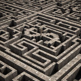 Dollar inside a maze Stock Images