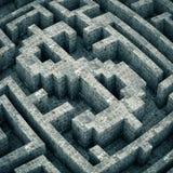 Dollar inside a maze Stock Image