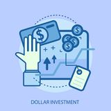 Dollar Investment Conceptual Design Royalty Free Stock Photos
