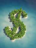 Dollar island Royalty Free Stock Photography