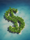 Dollar island Royalty Free Stock Photo