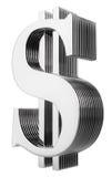 dollar isolerad multilayer teckenwhite Arkivfoton