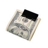 dollar isolerad packe royaltyfri fotografi