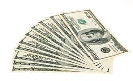 dollar isolerad set Arkivfoto