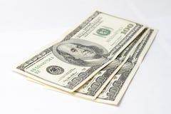 dollar isolerade oss som var vita Arkivfoton
