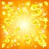 Dollar Jackpot Background Royalty Free Stock Photos