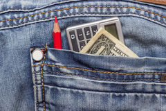 Dollar jeans pencil Stock Image