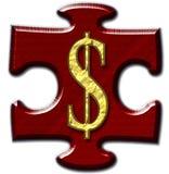 Dollar Jigsaw Piece Stock Images