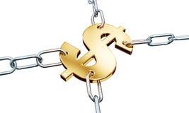 Dollar in Kettingen Royalty-vrije Stock Fotografie