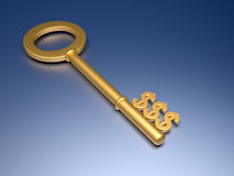 Dollar key Royalty Free Stock Photo
