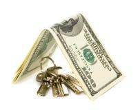 Dollar key. On a white background Stock Photography