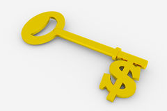Dollar key Stock Photo