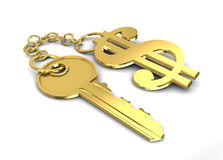 Dollar key Royalty Free Stock Images