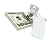 Dollar key Royalty Free Stock Photos
