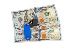 Dollar with a key loc Royalty Free Stock Photo