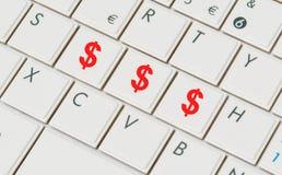 Dollar knappar Arkivfoton