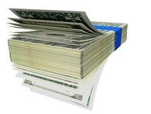Dollar konfrontieren wie Fanstapel - Wiedergabe 3d Lizenzfreie Stockbilder
