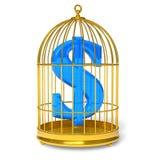 Dollar in kooi Royalty-vrije Stock Foto's