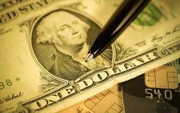 Dollar, Kreditkarte Finanzkonzept Lizenzfreie Stockfotos