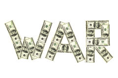 Dollar Krieg Stockfoto