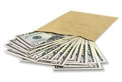 dollar kuvert Arkivfoton