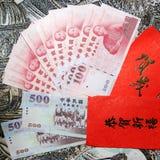 dollar kuvertred taiwan Royaltyfri Bild