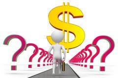 Dollar långt till framgång royaltyfri illustrationer