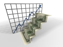 Dollar ladder Stock Images