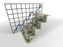 Dollar ladder Stock Images